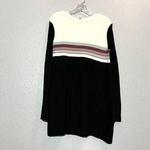 Free People Color Block Sweater Mini Dress